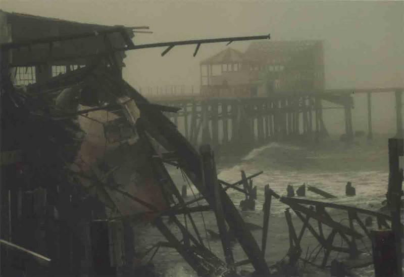 Pacific Ocean Park in fog - Demolition 1975