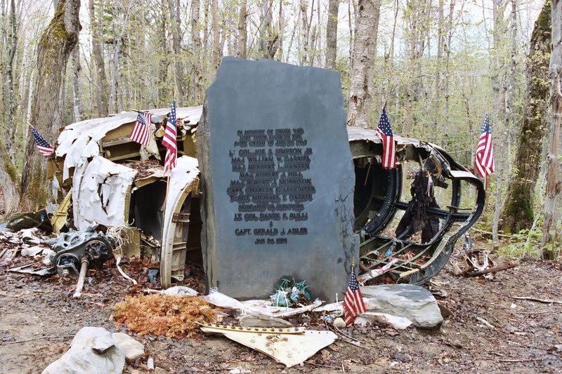 B-52 crash site near Moosehead Lake, Maine