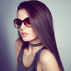 Young beautiful girl in sunglasses.