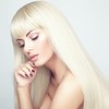 Fashion beauty portrait with white  hair.
