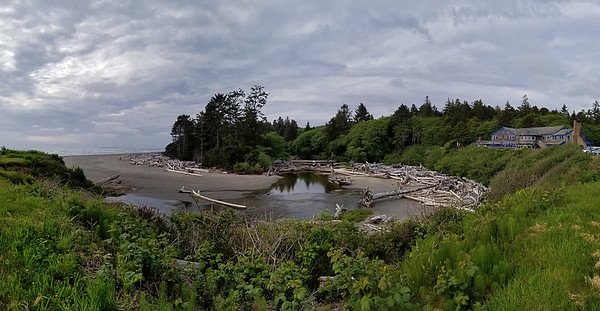 Outlet of Kalaloch Creek at Pacific Ocean
