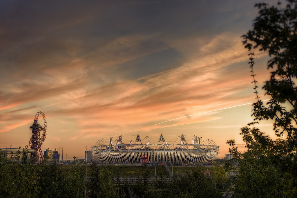 The Sun Sets on the Olympic Park