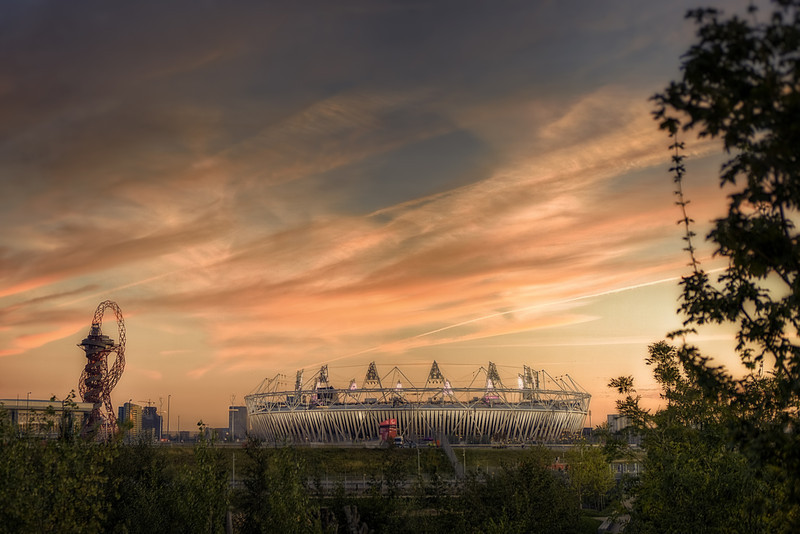 The Sun Sets on the Olympic Park