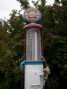 Old gas pump at the Joyce General Store, Joyce, Washington.