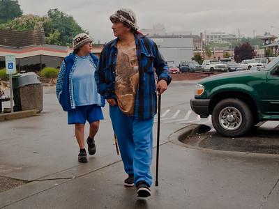 Native American couple, Port Angeles, Washington, 2011.