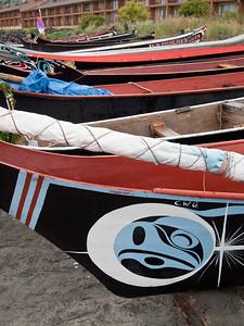 Tribal canoes at Port Angeles, Washington.