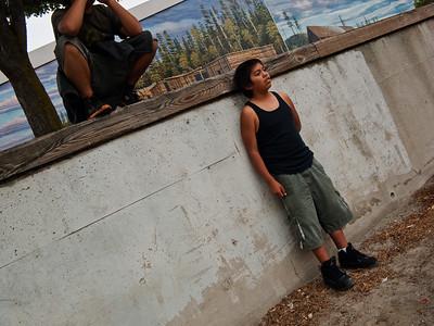 Native American boys, Port Angeles, Washington, 2011.