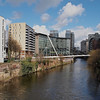 The River Irwell and the Trinity Bridge