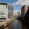 The River Irwell from the Trinity Bridge