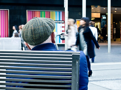 Calm and contemplation amidst the Bourke Street Mall bustle