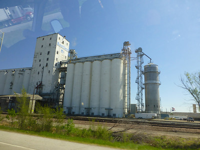 A grain elevator in Council Bluffs, Ia
