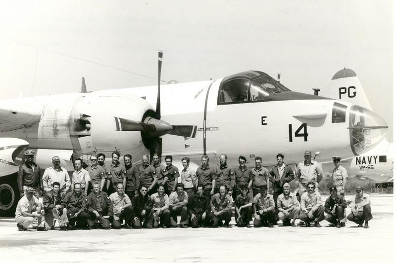 PATROL SQUADRON VP-65 GROUP SHOT<br /> NAS Pt Mugu, Oxnard, California<br /> <br /> This is the group shot of my Patrol Squadron based out of NAS Pt Mugu, CA. That's me, the fifth from the right on the back row. Man, I loved these planes. I still do.