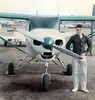 FIRST FLIGHT<br /> Old Grand Prairie Airport, Grand Prairie, Texas<br /> <br /> This photo was taken after my very first flight in an airplane, Piper Tri-Pacer N1206C owned by one David Goering (no relation to Hermann, at least as far as I know). It was a windy, bumpy day and I got a little airsick -- the first of only two times in my entire flying career.