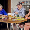 Mark Maynard | for The Herald Bulletin<br /> Ethel Thayer (Susan Hill) and her daughter, Chelsea (Wendy Carpenter), listen to local Postman Charlie Martin (Scott McFadden) as he reminisces about the crush he had on Chelsea in their youth.