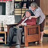 Mark Maynard | for The Herald Bulletin<br /> Ethel Thayer (Susan Hill) comforts her husband Norman (Bob Green) as he reveals his increasing lapses of memory.