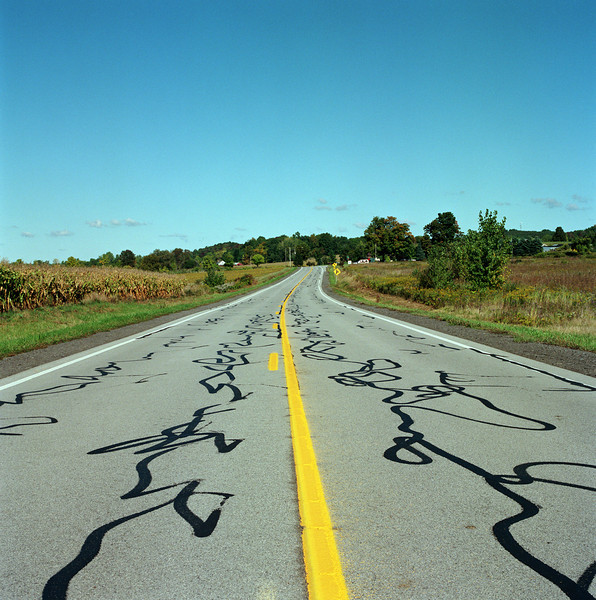 Country road in middle America (Photo by Ohm Phanphiroj)