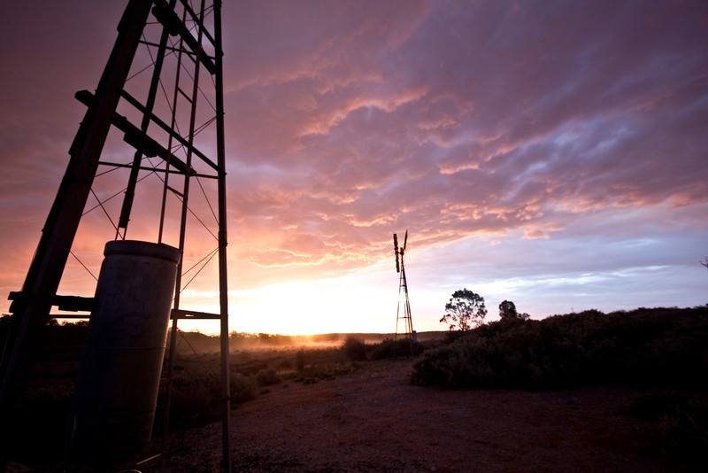 Windmill sunset Underwood