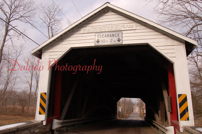 Hassenplug Covered Bridge- 71 ft. long built in 1825.