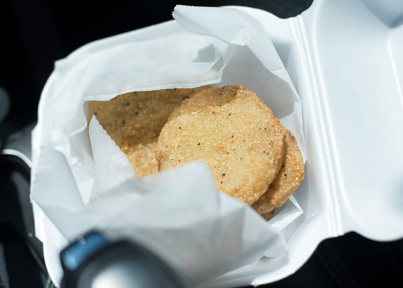 Cant leave without some fried green tomatoes.