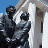 Dred Scott statue in from of Old Courthouse. Represents a landmark decision by the United States Supreme Court on US labor law and constitutional law.