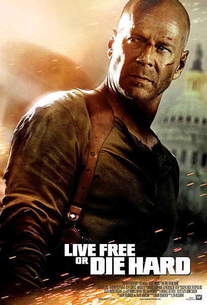 ". ""Live Free or Die Hard\"" movie starring Bruce Willis as New York City Detective John McClane is released on June 27, 2007."