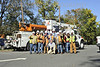 These 12 men were spotted in Montclair, NJ on a coffee break from restoring power to the community of 30,000. They are part of a crew of 165 Linemen with ON Power Energy who drove 135 trucks from Punta Gorda Florida 1,220 miles over two days to get to Paramus NJ in response to out power outages