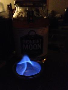 Apple pie moonshine.  On fire.