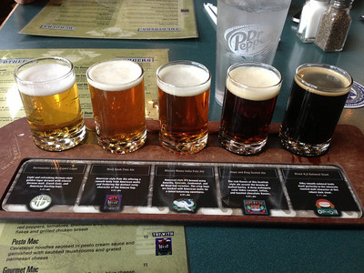 The house brews at Town Hall Brewery.