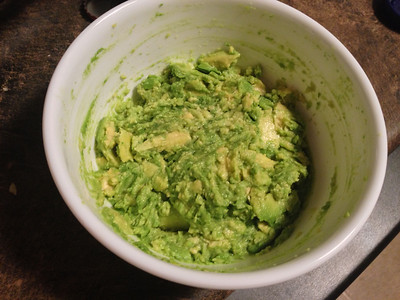 Avocado mush.  (I thought I uploaded this yesterday but apparently the smugmug app failed.)