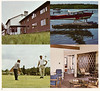Page 6 from Ontario Northland tourist brochure (undated) Land of the Polar Bear Express showing Moosonee Lodge, float plane and golfers.