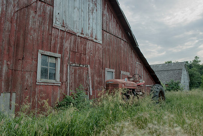 Farmall M and the Barn.