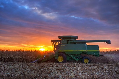 John Deere Sunset