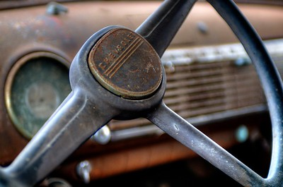 Old Chevy Steering Wheel