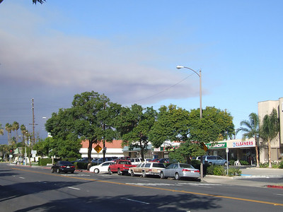 Orange County Fires - view from Tustin - 11/15/08