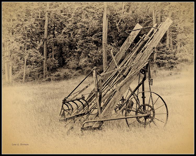 Knapp Farm hay baler, antique