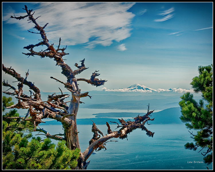 View 1 of Mt. Baker as seen from Mt. Constitution on Orcas Island