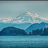 View of Mt. Baker from the Anacortes to Orcas Ferry