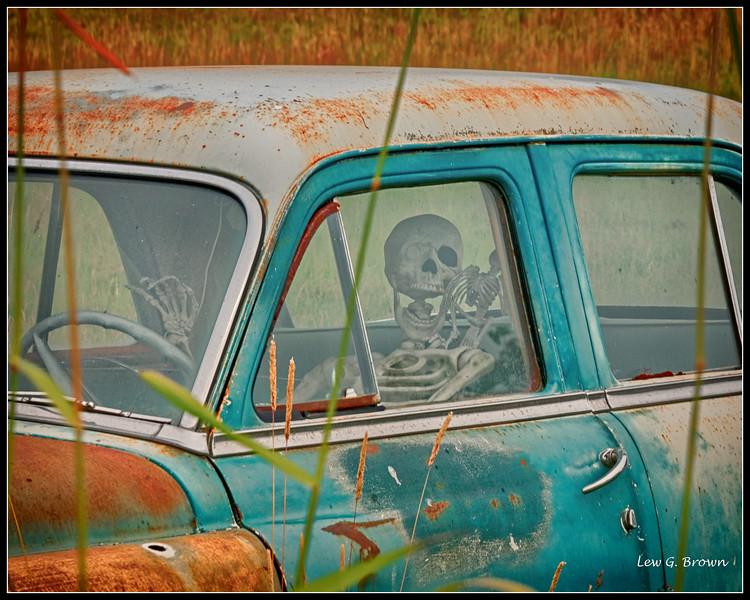 """Skeleton Crew"" 1950 era Dodge"