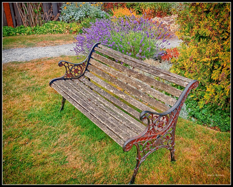 Bench and Lavender, Eastsound area