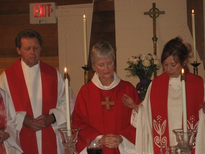 Ordination of Janice Sevre-Duszynska in Lexington, Ky. with Fr. Roy Bourgeois