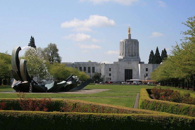 This is the state capital of Oregon.  It was only 2 blocks from my job assignment.