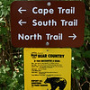 Walking the cape trail at Cape Lookout.