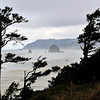 Haystack Rock on a stormy afternoon