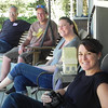 This is sweet...Dale, Christer, Ash & Cari.....sitting on the front porch in Oregon.