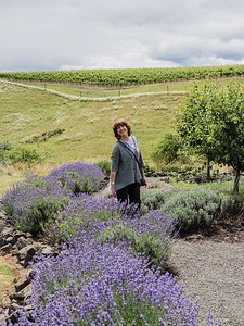 Vicki at the WillaKenzie Estate winery, Yamhill, Oregon.