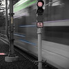 My black and white, color and shutter speed effect of the Max Train in Oregon.