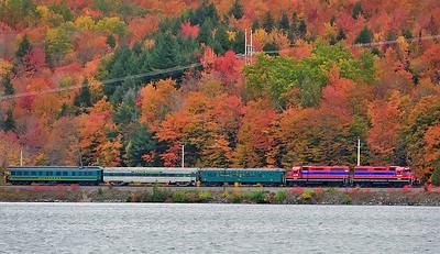 Central Maine & Quebec Ry, Passenger Extra, Orford Quebec, October 14 2015.