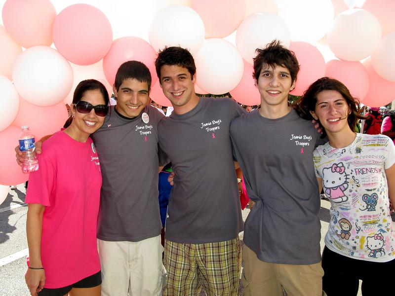 Lisa, Scott, Nick's friend Anthony, Nick, Scott's friend Kayla