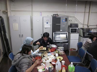 "Graduate student takoyaki ""cook-off""."