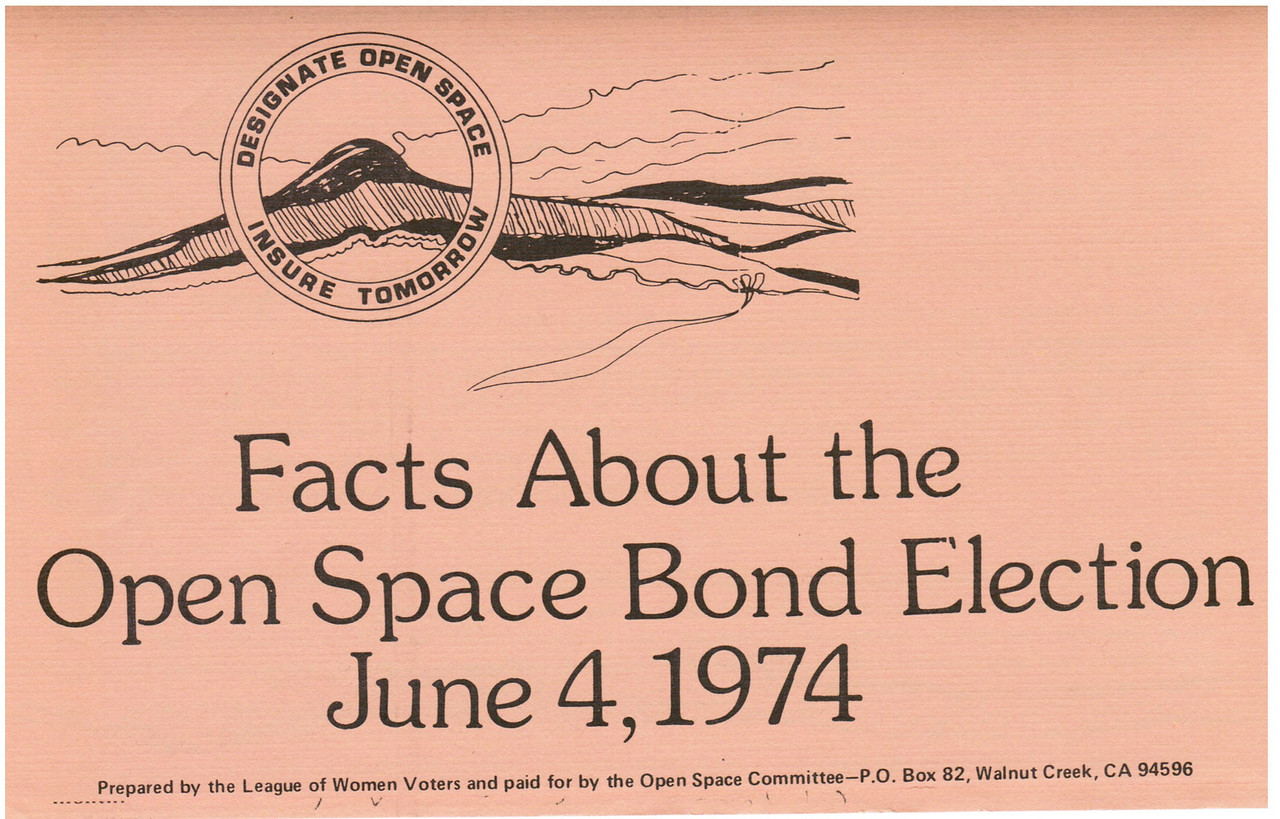 This is one side of a flyer used to explain the bond issue to purchase open space (and park land).  The two following images are from the same flyer.<br /> <br /> This is prime history for us!